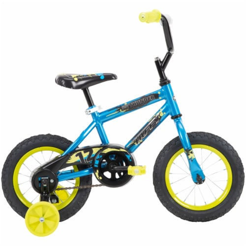 Huffy Pro Thunder Boys Bicycle - Blue/Yellow Perspective: right