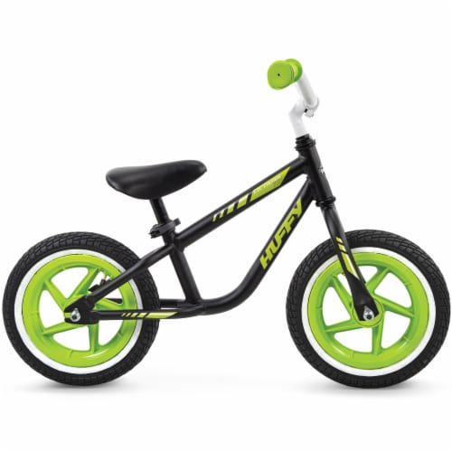Huffy Lil Cruzier Balance Bicycle - Green/Black Perspective: right