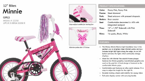Huffy Minnie Mouse Bicycle - Pink Perspective: right