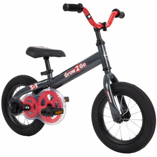 Huffy Grow 2 Go 3-in-1 Boys' Conversion Bicycle - Red/Black Perspective: right