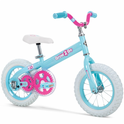 Huffy Grow 2 Go 3-in-1 Girls' Conversion Bicycle - Pink/Teal Perspective: right