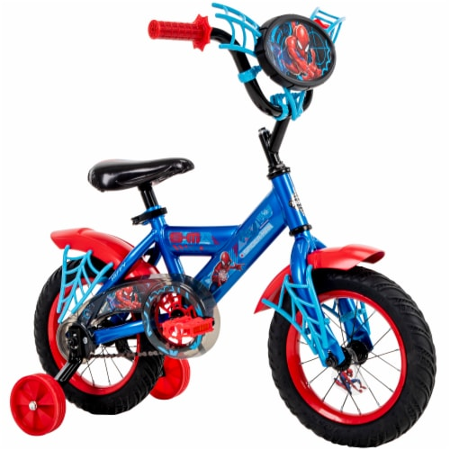 Huffy Marvel Spiderman Boys' Bicycle - Red/Blue Perspective: right