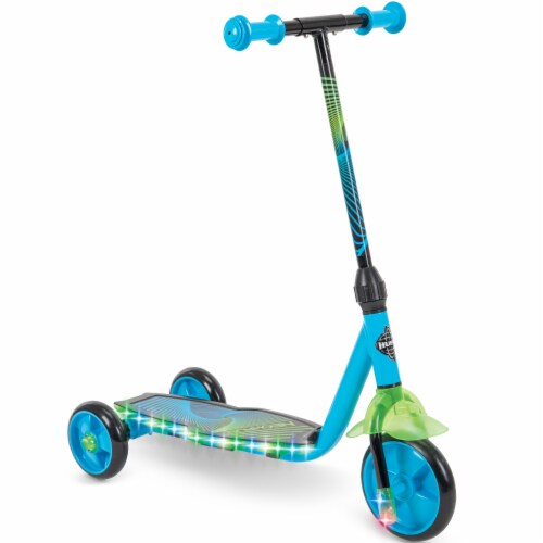 Huffy Neowave Electrolight 3-Wheel Scooter - Green/Teal Perspective: right