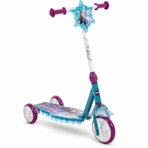 Huffy Frozen 2 Electrolight 3-Wheel Scooter - Blue/Purple Perspective: right