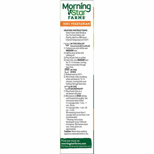 MorningStar Farms Frozen Veggie Breakfast Sausage Links Original Perspective: right