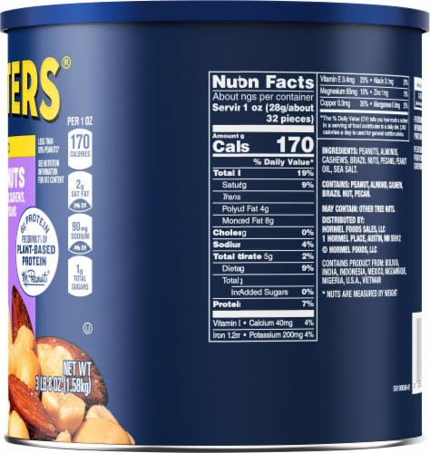 Planters Sea Salt Mixed Nuts Perspective: right
