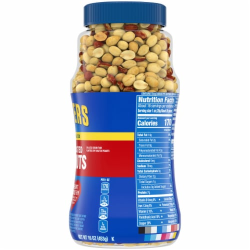 Planters Lightly Salted Dry Roasted Peanuts Perspective: right