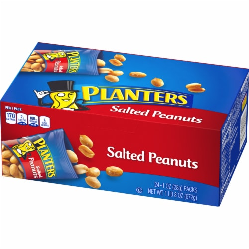 Planters Salted Peanuts 24 Count Perspective: right