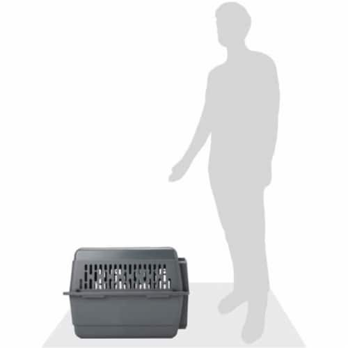 Aspen Pet Porter 26 Inch Hard Sided Travel Crate Carrier Kennel, Black and Gray Perspective: right
