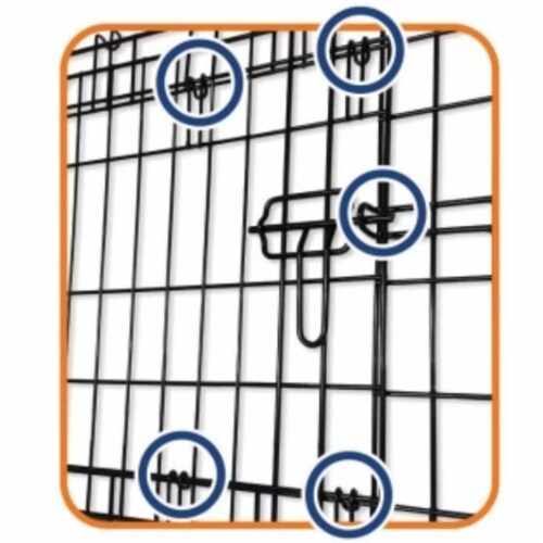 Petmate Double Door Training Retreat Wire Kennel Dog Crate with Divider, Black Perspective: right