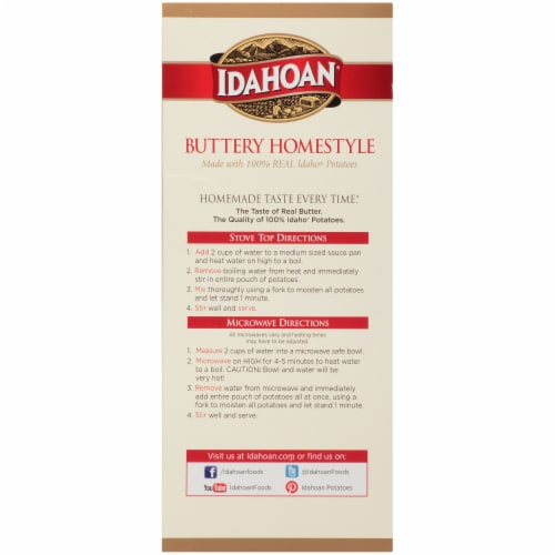 Idahoan Buttery Homestlye Mashed Potatoes 5 Count Perspective: right