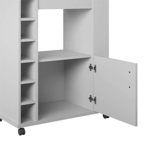 Williams Kitchen Cart, Dove Gray Perspective: right