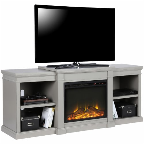 Manchester Electric Fireplace TV Stand or TVs up to 70 , Gray Perspective: right