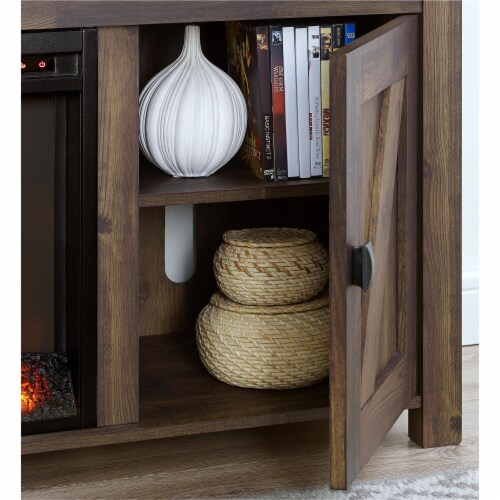 Farmington Electric Fireplace TV Console for TVs up to 60 , Rustic Perspective: right