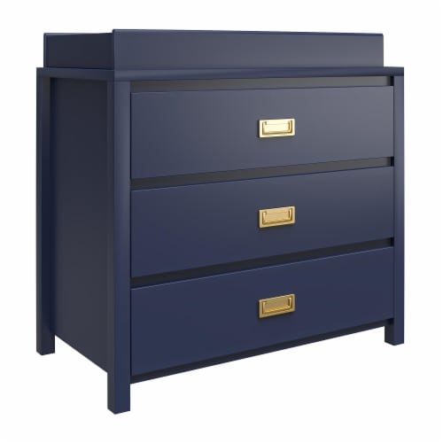 Monarch Hill Haven 3 Drawer Navy Changing Dresser Perspective: right