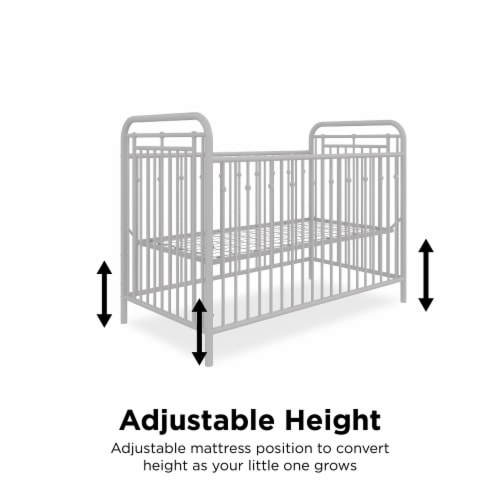 Little Seeds Monarch Hill Hawken Metal Crib, Dove Gray Perspective: right
