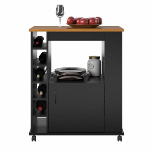 Williams Kitchen Cart, Black Perspective: right