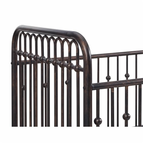 Monarch Hill Ivy Bronze Metal Baby Crib Perspective: right