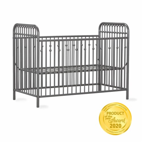 Monarch Hill Ivy Grey Metal Baby Crib Perspective: right