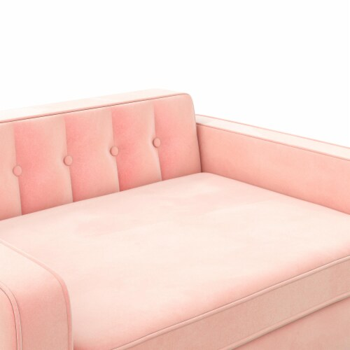 Ollie & Hutch Pin Tufted Pet Sofa, Small/Medium, Pink Velvet Perspective: right