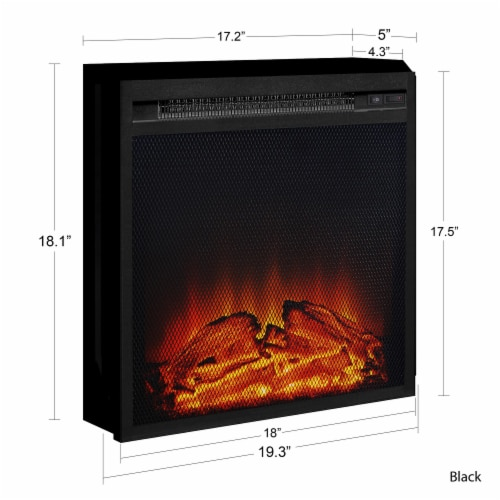 Ameriwood Home 18  x 18  Mesh Front Electric Fireplace Insert, Black Perspective: right