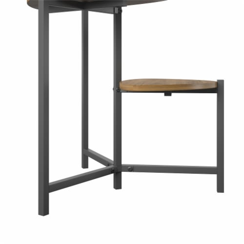 Tallulah Plant Stand, Walnut/Gray Perspective: right