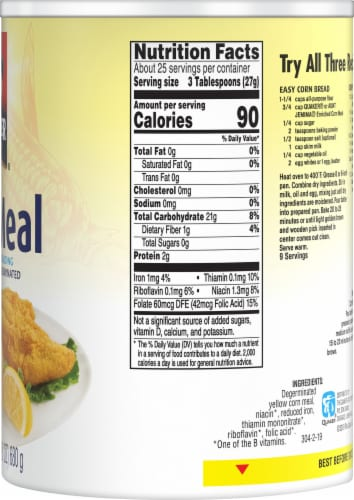Quaker Yellow Corn Meal For Baking Perspective: right
