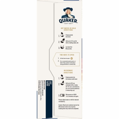 Quaker Instant Oatmeal Flavor Variety Pack Perspective: right
