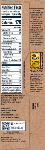 Quaker Select Start Blueberries & Cranberries Steel Cut Instant Oatmeal Packets Perspective: right