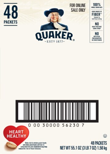 Quaker Lower Sugar Instant Oatmeal Variety Pack Perspective: right