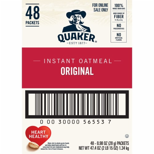Quaker Original Instant Oatmeal 48 Count Perspective: right