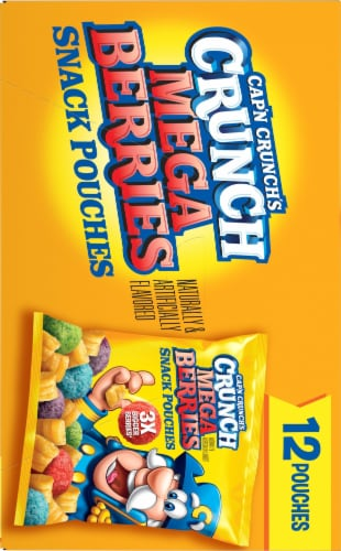 Cap'N Crunch's Crunch Mega Berries Sweetened Corn & Oat Snack Pouches Perspective: right