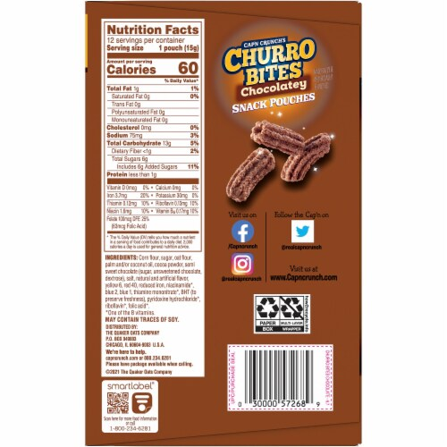 Cap'N Crunch's Chocolatey Churro Bites Perspective: right