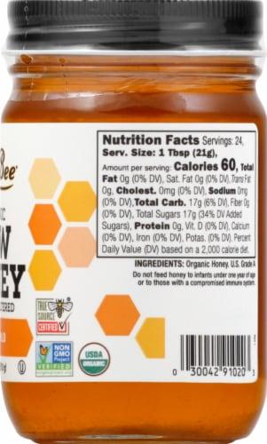 GloryBee Raw Organic Clover Blossom Honey Spread Perspective: right