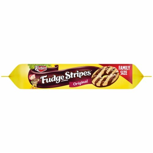Keebler Original Fudge Stripes Cookies Family Size Perspective: right