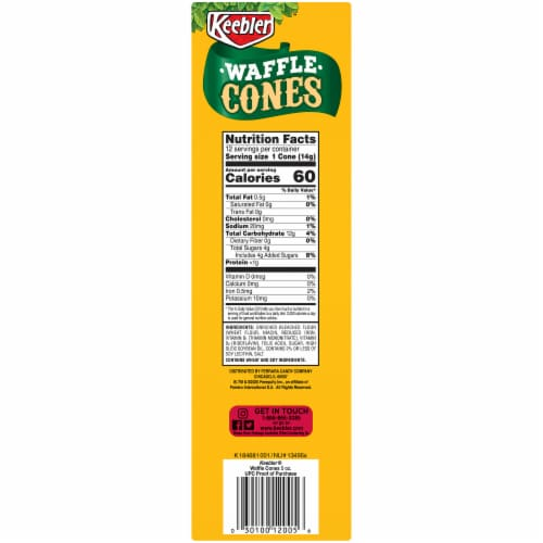 Keebler Waffle Cones 12 Count Perspective: right