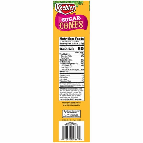 Keebler Sugar Cones Perspective: right