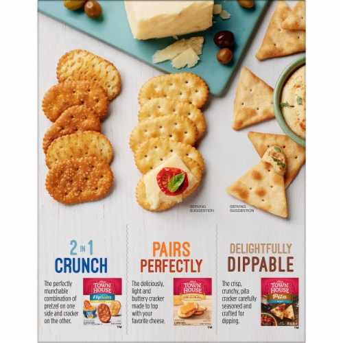 Town House Flatbread Crisps Crackers Italian Herb Perspective: right