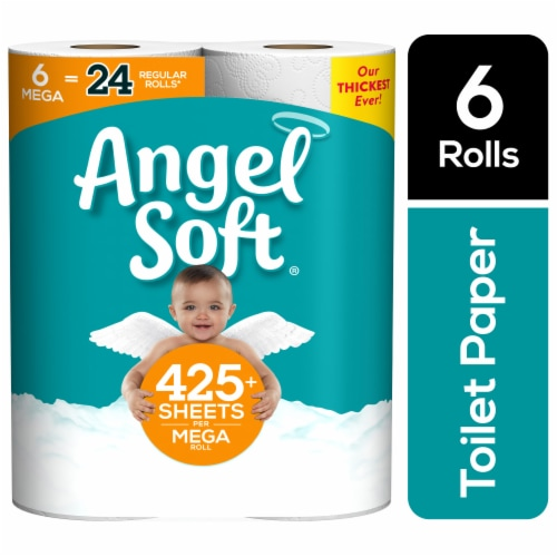Angel Soft Mega Roll Unscented Bathroom Tissue Perspective: right