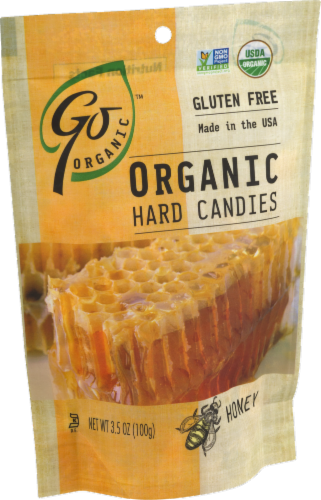 Go Naturally Organic Honey Hard Candies Perspective: right