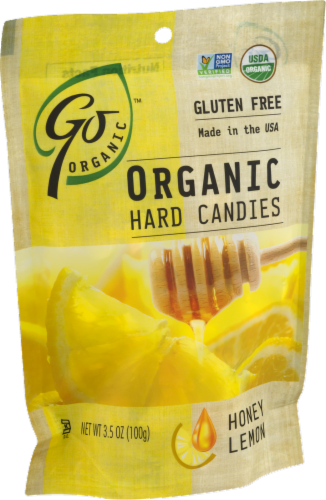 Go Naturally Organic Honey Lemon Hard Candies Perspective: right