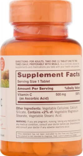 Sundown Naturals Vitamin C Tablets 500mg Perspective: right