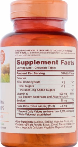 Sundown Naturals Vitamin C 500 mg  Chewable Tablets Perspective: right