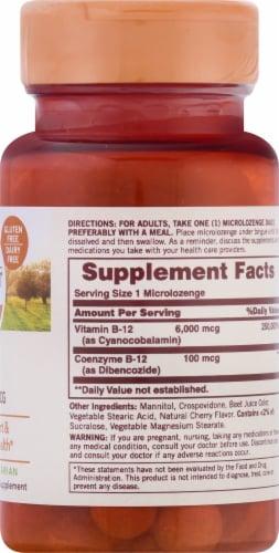 Sundown Naturals Dissolvable B12 6000 mcg Cherry Flavored Microlozenges Perspective: right