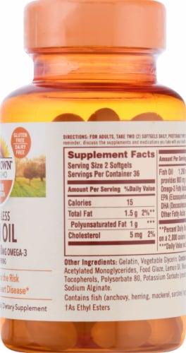 Sundown Naturals Odorless Fish Oil 1290 mg Omega-3 900 mg Mini Softgels Perspective: right