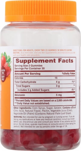 Sundown Naturals Melatonin Strawberry Gummies Perspective: right