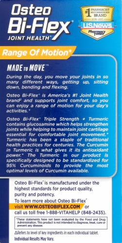 Osteo Bi-Flex Triple Strength + Tumeric Joint Health Coated Tablets 80 Count Perspective: right