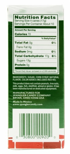 Spangler Mini Peppermint Candy Canes 40 Count Perspective: right