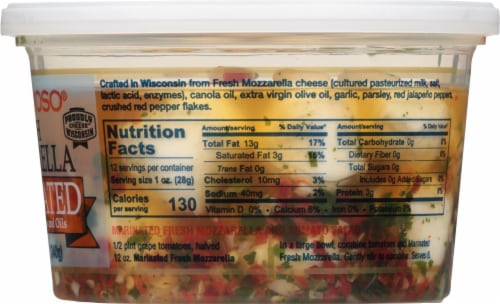 BelGioioso Marinated Fresh Mozzarella 23 Count Perspective: right
