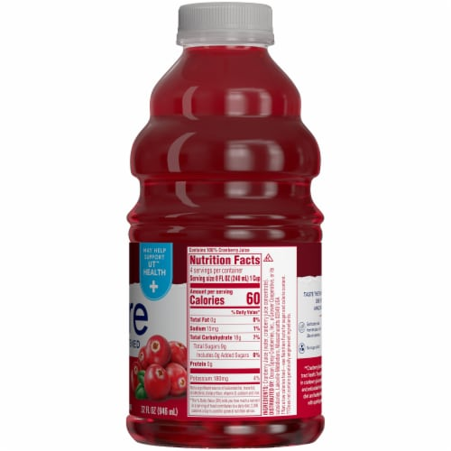 Ocean Spray Unsweetened Pure Cranberry Juice Perspective: right